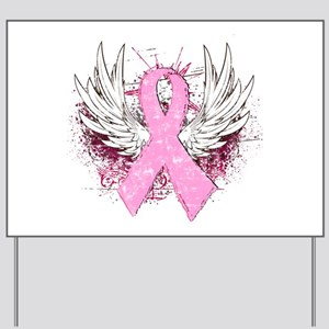 Breast Cancer Wings Yard Signs Cafepress