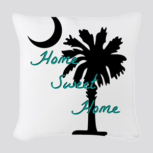 home sweet home carolina Woven Throw Pillow