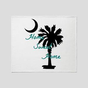 home sweet home carolina Throw Blanket