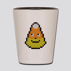 pixel candy corn Shot Glass
