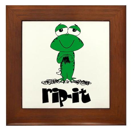 Rip It - Yarn Frog Framed Tile