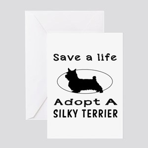 Adopt A Silky Terrier Dog Greeting Card