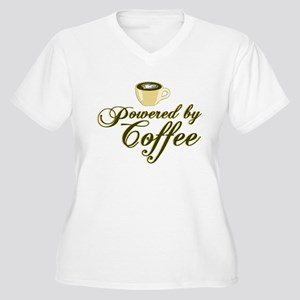 Powered By Coffee Plus Size T-Shirt