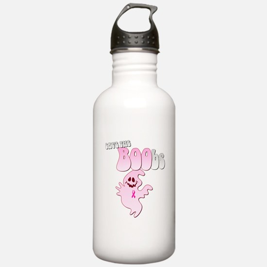 Save the BOObs Pink Ghost Water Bottle