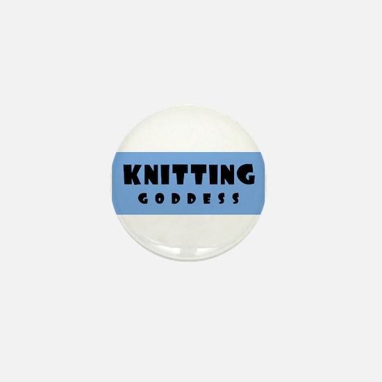 Knitting Goddess Mini Button