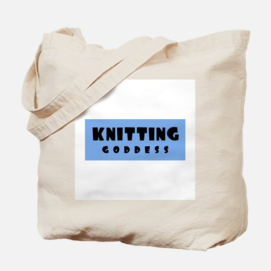 Knitting Goddess Tote Bag