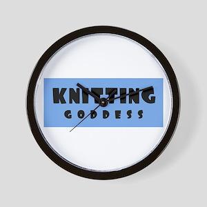 Knitting Goddess Wall Clock