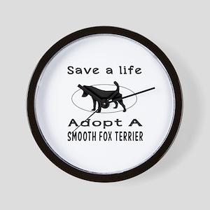 Adopt A Smooth Fox Terrier Dog Wall Clock