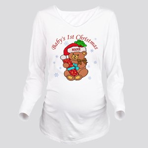 Baby's 1st Christmas Long Sleeve Maternity T-Shirt
