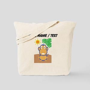 Custom Monkey At The Beach Tote Bag