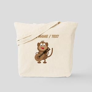 Custom Monkey Playing Guitar Tote Bag
