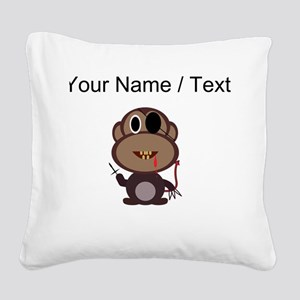 Custom Evil Monkey Square Canvas Pillow