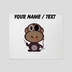 Custom Evil Monkey Throw Blanket