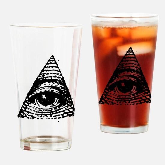 Illuminati All Seeing Eye Drinking Glass