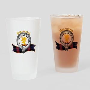 Brown Clan Drinking Glass
