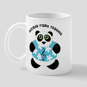 Retired Piano Teacher Panda Mug