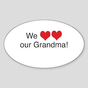 We heart grandma Oval Sticker