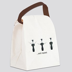 Wine Aerobics Canvas Lunch Bag