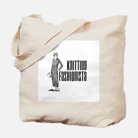 Knitting Fashionista Tote Bag