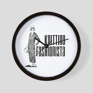 Knitting Fashionista Wall Clock