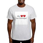 We heart grandpa Ash Grey T-Shirt