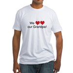 We heart grandpa Fitted T-Shirt