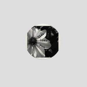 Live Love Run by Vetro Designs Mini Button