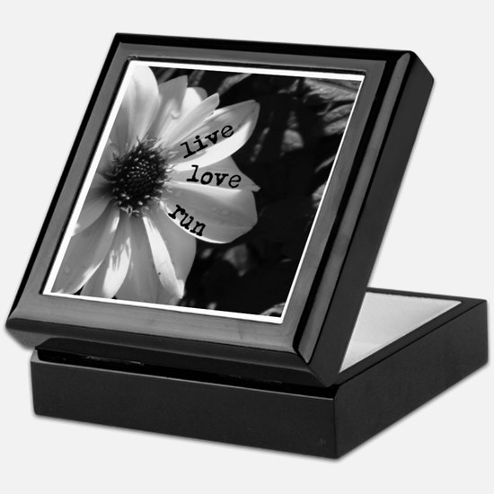 Live Love Run by Vetro Designs Keepsake Box