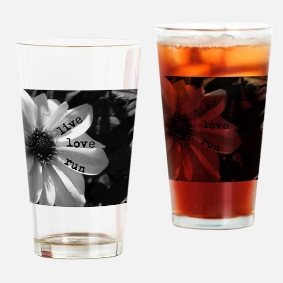 Live Love Run by Vetro Designs Drinking Glass