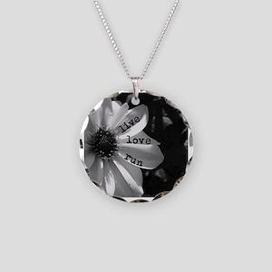 Live Love Run by Vetro Desig Necklace Circle Charm