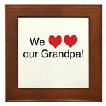 We heart grandpa Framed Tile