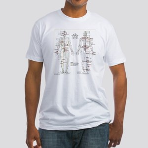 Chinese Meridians and Pressure poin Fitted T-Shirt
