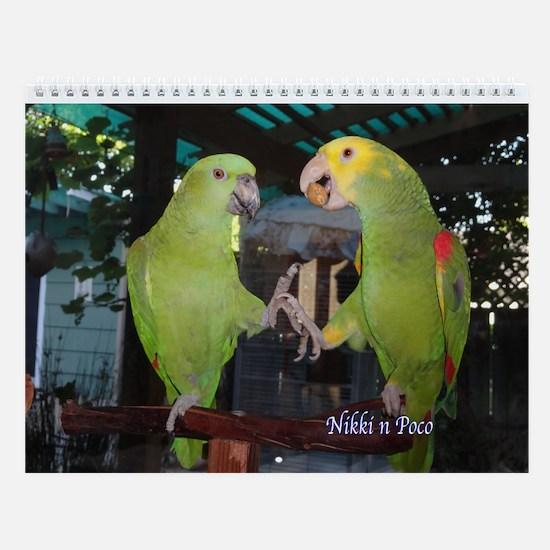 Parrots Wall Calendar
