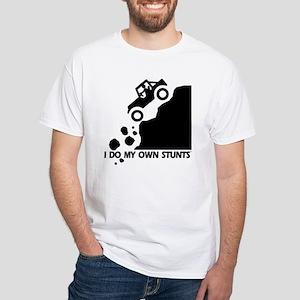 Hill Jeep I Do My Own Stunts White T-Shirt