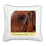 Horse Theme Square Canvas Pillow #5053