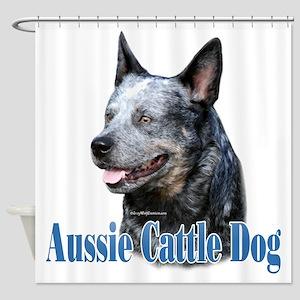 Aussie Cattle Name Shower Curtain
