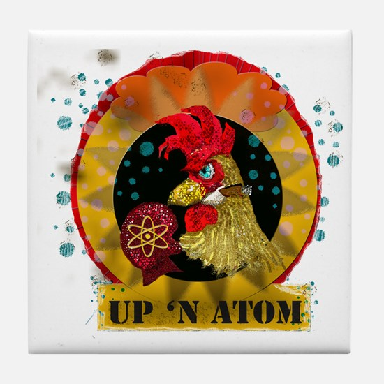 Classic Kitsch WWII Nose Art Up n' At Tile Coaster