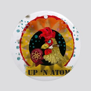 Classic Kitsch WWII Nose Art Up n'  Round Ornament