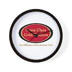 Gold Rusher Logo Wall Clock