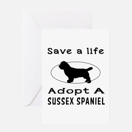 Adopt A Sussex Spaniel Dog Greeting Card