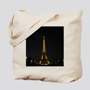 Eiffel Tower, Paris France at Night Tote Bag