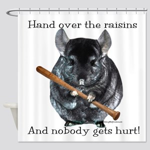 Chin Raisin Shower Curtain