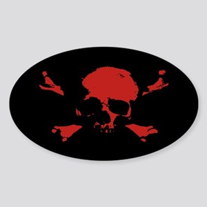 Scalawag 1a-red Oval Sticker