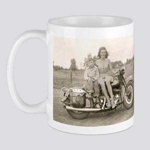 Harley Girl Vintage Photo Mug