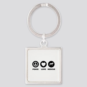 Blackmouth Cur Square Keychain