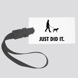 Blackmouth Cur Large Luggage Tag