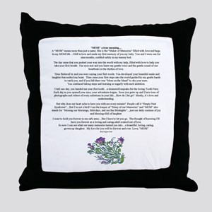MOM to Daughter True Meaning Poem Throw Pillow