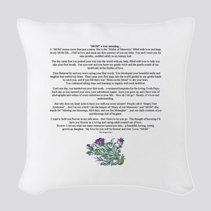 MOM to Daughter True Meaning Poem Woven Throw Pill