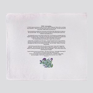 MOM to Daughter True Meaning Poem Throw Blanket