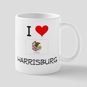 I Love HARRISBURG Illinois Mugs